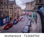 edinburgh  scotland   july 28 ... | Shutterstock . vector #712660762