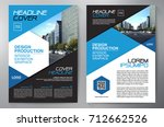 business brochure. flyer design.... | Shutterstock .eps vector #712662526