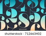 font of numbers in classical... | Shutterstock .eps vector #712663402