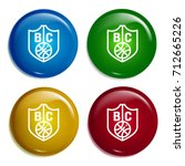 badge multi color gradient...