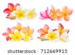 set of white and pink... | Shutterstock . vector #712669915