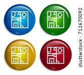interior design multi color... | Shutterstock .eps vector #712670092