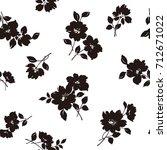 flower illustration pattern | Shutterstock .eps vector #712671022