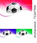 vector football banner   Shutterstock .eps vector #71267506