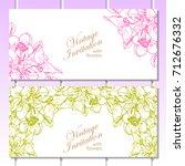 romantic invitation. wedding ... | Shutterstock . vector #712676332