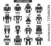 robot icons set | Shutterstock .eps vector #712686286