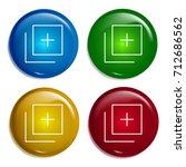 add multi color gradient glossy ...