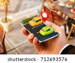 smartphone application for... | Shutterstock . vector #712693576