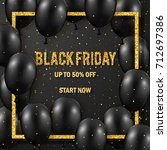 black friday sale poster with...   Shutterstock .eps vector #712697386