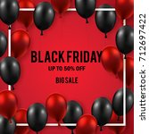 black friday sale poster with...   Shutterstock .eps vector #712697422