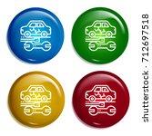 car repair multi color gradient ...