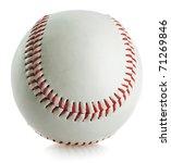 Baseball Ball On White...