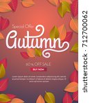 autumn sale template banner... | Shutterstock .eps vector #712700062