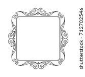 decorative retro frames .vector ... | Shutterstock .eps vector #712702546