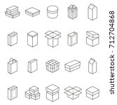boxes thin line icon set... | Shutterstock .eps vector #712704868