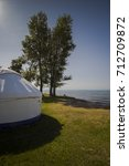 nomadic tents known as yurt at... | Shutterstock . vector #712709872