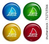 sailboat multi color gradient...