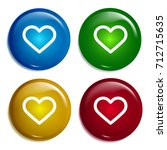 heart multi color gradient...