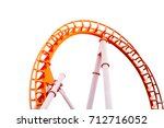 roller coaster on white... | Shutterstock . vector #712716052