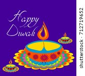 diwali greetings with... | Shutterstock .eps vector #712719652