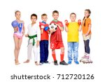 sports and activities for... | Shutterstock . vector #712720126
