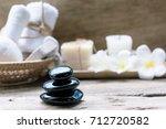 black zen stones beauty and... | Shutterstock . vector #712720582