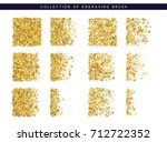 golden sequins texture. set... | Shutterstock .eps vector #712722352