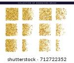 golden sequins texture. set... | Shutterstock .eps vector #712722352