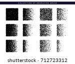 set brush stipple pattern for... | Shutterstock .eps vector #712723312