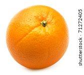Ripe Orange Isolated On White...