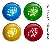 microbe multi color gradient...