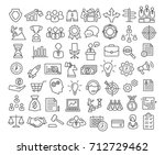 business icons set in line... | Shutterstock .eps vector #712729462