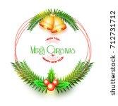 merry christmas celebration... | Shutterstock .eps vector #712731712