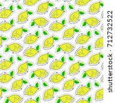 lemon juicy fruit. vector... | Shutterstock .eps vector #712732522