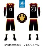 basketball jersey  shorts ... | Shutterstock .eps vector #712734742