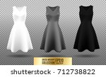 women's dress mockup collection.... | Shutterstock .eps vector #712738822