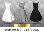 women's dress mockup collection.... | Shutterstock .eps vector #712739032
