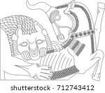 ancient persia architecture...   Shutterstock .eps vector #712743412