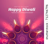 beautiful diwali illustration... | Shutterstock .eps vector #712746796
