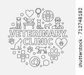 veterinary clinic round... | Shutterstock .eps vector #712748182