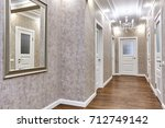 entrance hall  with a beautiful ...   Shutterstock . vector #712749142