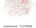 colorful explosion of confetti. ... | Shutterstock .eps vector #712750096