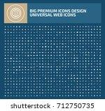 big icon set icon set vector   Shutterstock .eps vector #712750735