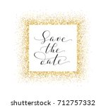 save the date card  hand... | Shutterstock .eps vector #712757332