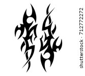 tribal tattoo art designs.... | Shutterstock .eps vector #712772272