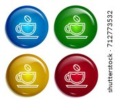 coffee cup multi color gradient ...