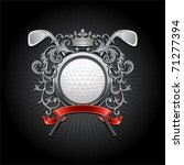 oat of arms with a golf ball...   Shutterstock .eps vector #71277394