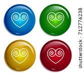 embroideblue heart multi color...