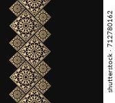 golden frame in oriental style. ... | Shutterstock .eps vector #712780162