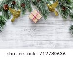 new year 2018 celebration with... | Shutterstock . vector #712780636